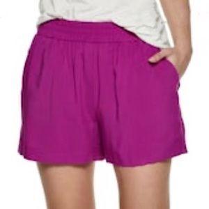 "APT. 9 Fuchsia ""Challis"" Soft Pull On Shorts"